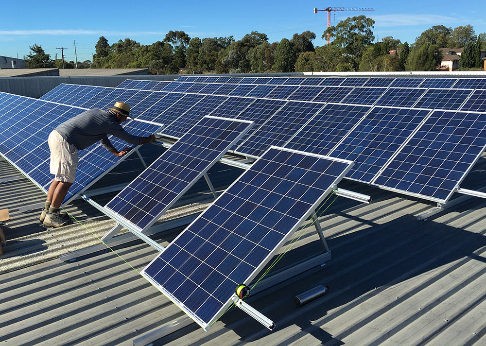 commercial solar sydney installation by solarbank