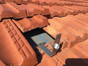 solar tile bracket installation