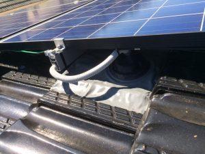 solar roof penetration flashing